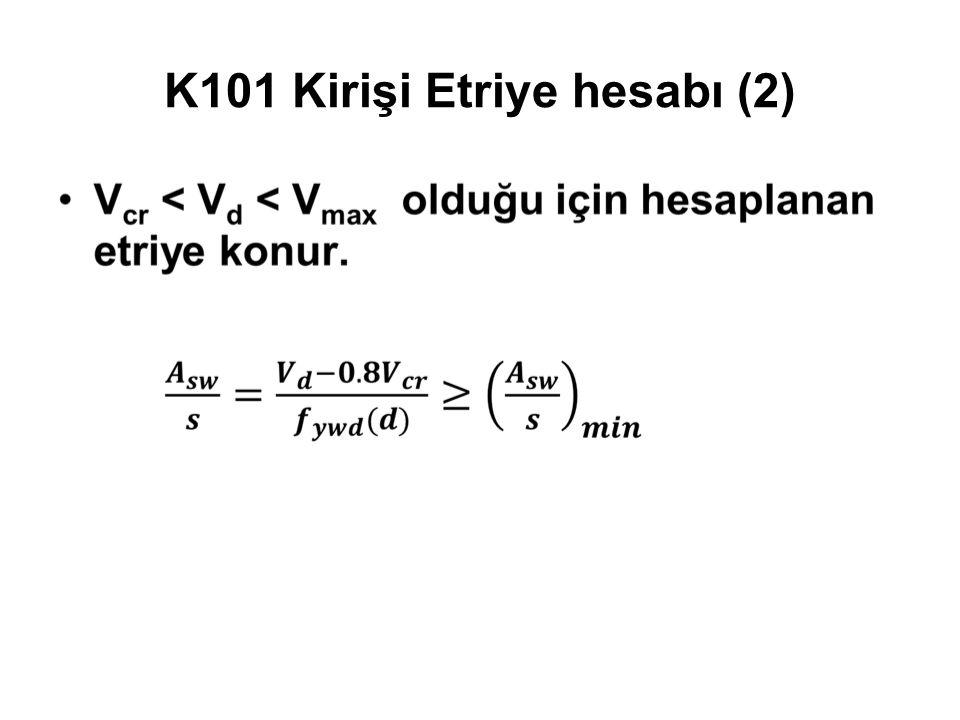 K101 Kirişi Etriye hesabı (2)