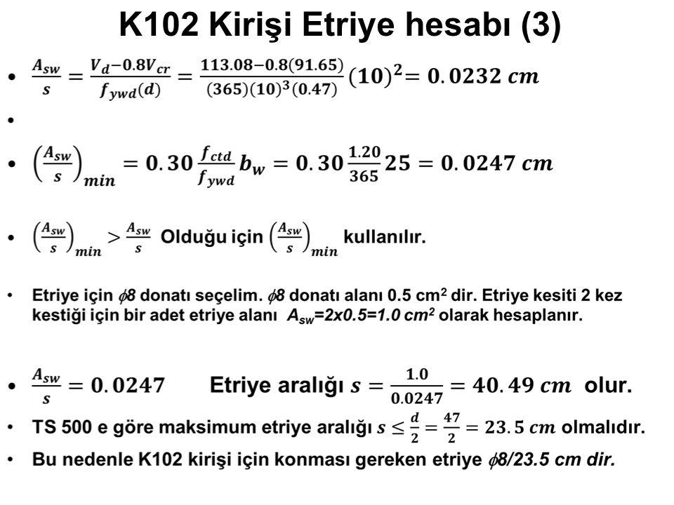 K102 Kirişi Etriye hesabı (3)