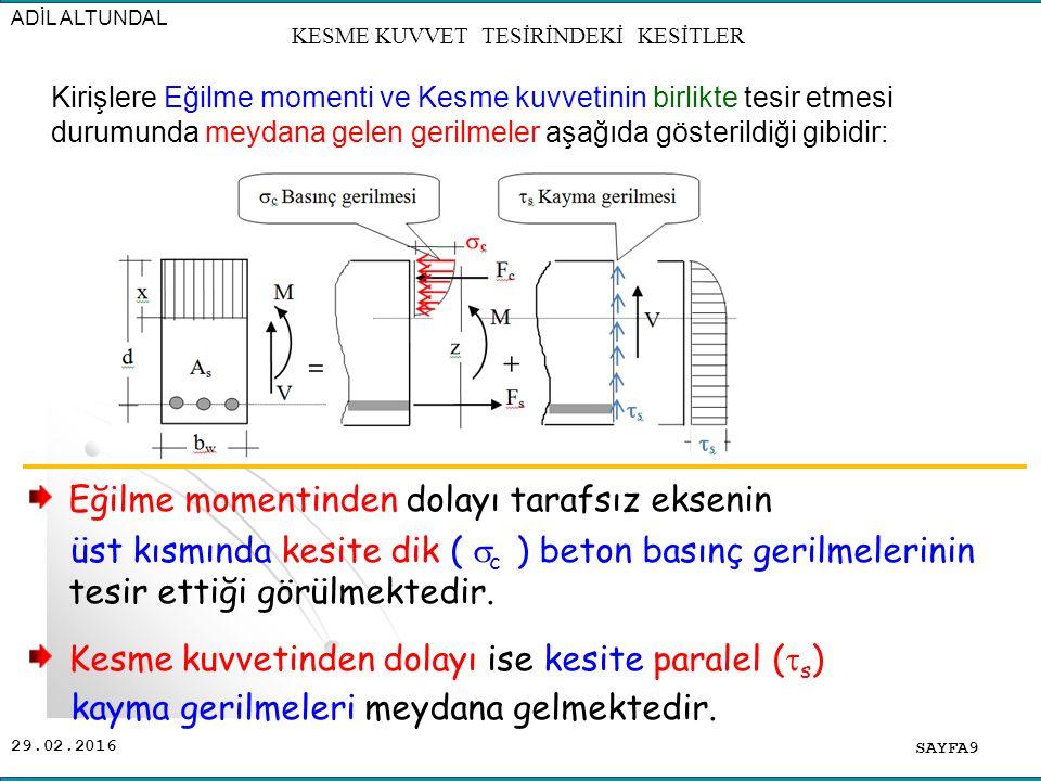 29.02.2016 SAYFA70 KESME KUVVET TESİRİNDEKİ KESİTLER Burulma momentinin olması durumunda ise [T / (V*b w )] = 1 alınmalıdır.