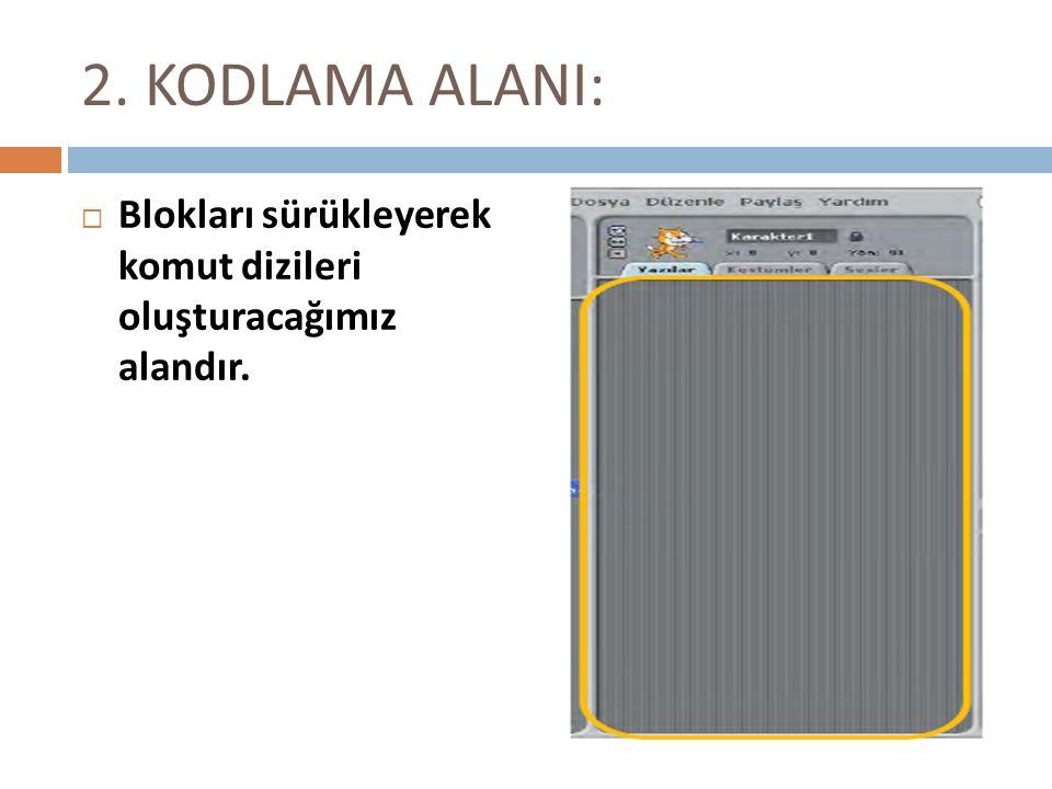 SCRATCH ÖRNEKLER 11.DALGIÇ AAmaç:Klavyedeki Yön tuşlarını kullanarak dalgıcı ekranın dört yönüne hareket ettirmek.