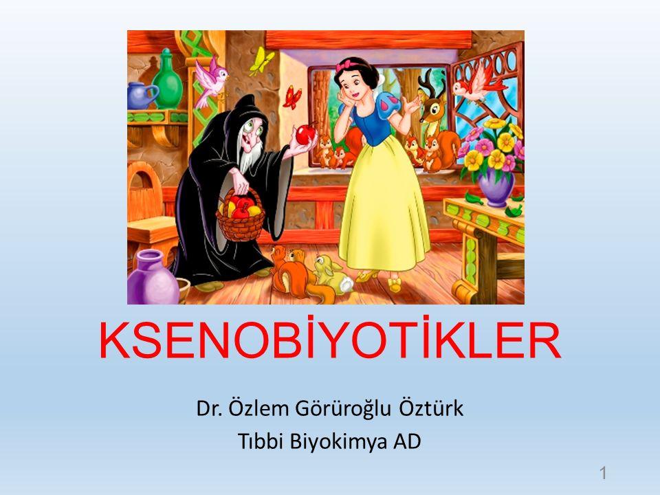 KSENOBİYOTİKLER Dr. Özlem Görüroğlu Öztürk Tıbbi Biyokimya AD 1