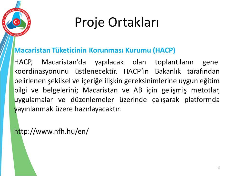 Macaristan Tüketicinin Korunması Kurumu (HACP) HACP, Macaristan'da yapılacak olan toplantıların genel koordinasyonunu üstlenecektir. HACP'ın Bakanlık