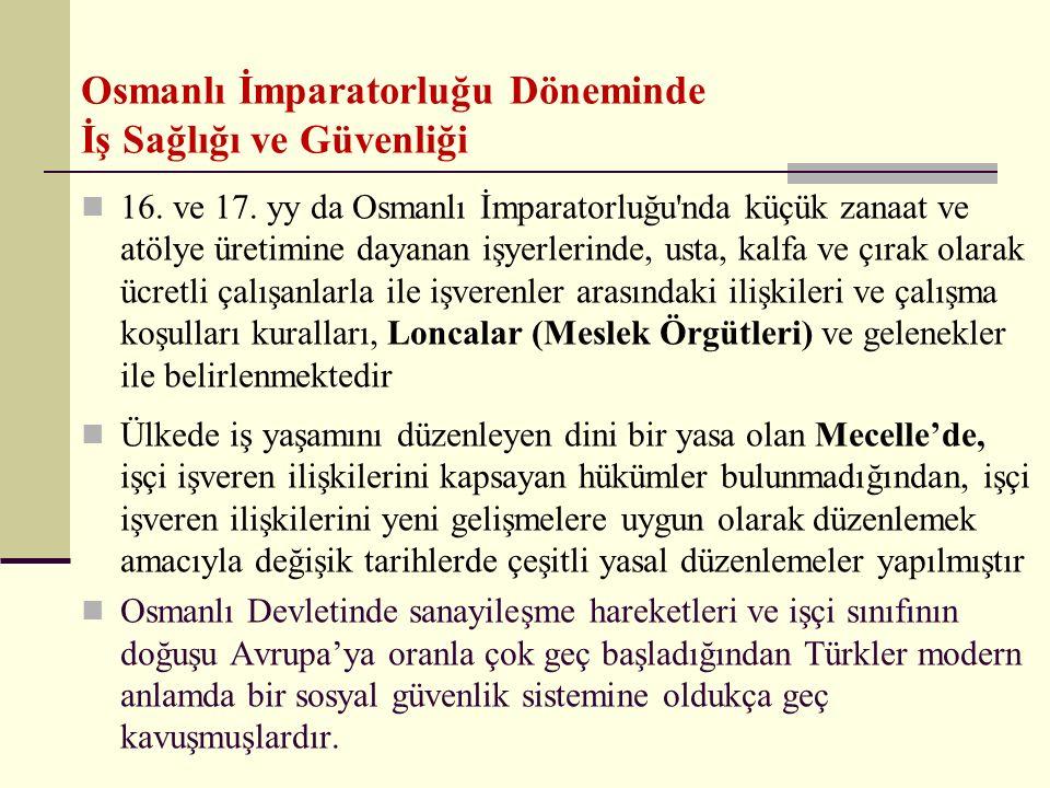 16. ve 17. yy da Osmanlı İmparatorluğu'nda küçük zanaat ve atölye üretimine dayanan işyerlerinde, usta, kalfa ve çırak olarak ücretli çalışanlarla ile