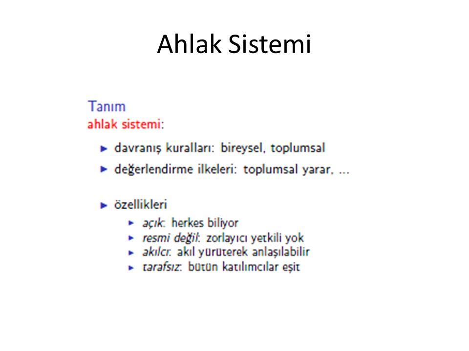 Ahlak Sistemi
