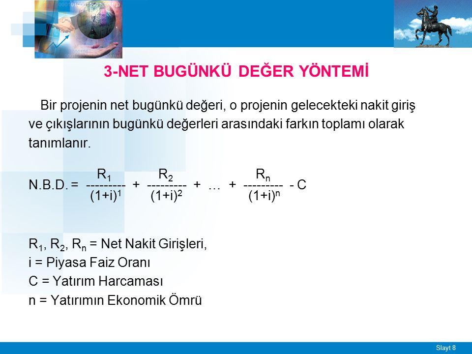 Slayt 9 ÖRNEK - 3 DEUcell tesislerinde kullanmayı düşündüğü bir makine için dönem başında 11.000 TL yatırım yapmayı düşünmektedir.