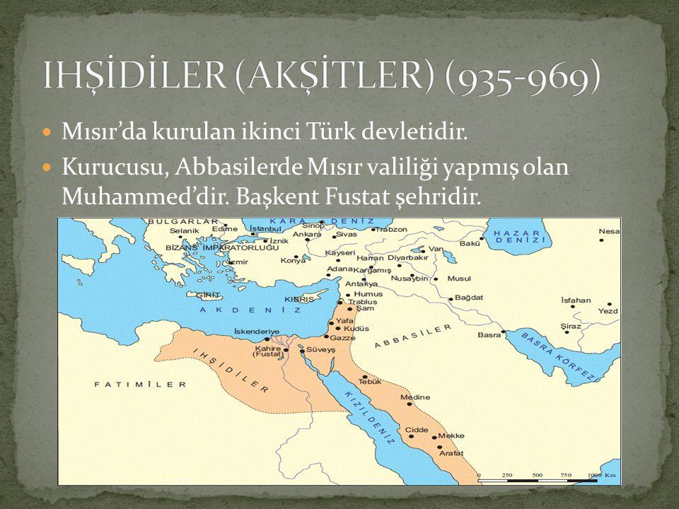 Mısır'da kurulan ikinci Türk devletidir. Kurucusu, Abbasilerde Mısır valiliği yapmış olan Muhammed'dir. Başkent Fustat şehridir.