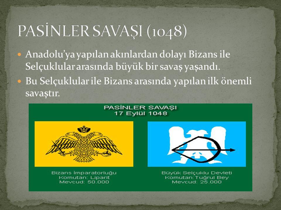 Anadolu'ya yapılan akınlardan dolayı Bizans ile Selçuklular arasında büyük bir savaş yaşandı. Bu Selçuklular ile Bizans arasında yapılan ilk önemli sa
