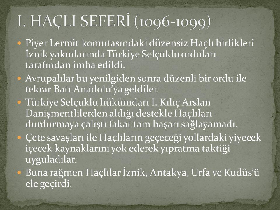 Piyer Lermit komutasındaki düzensiz Haçlı birlikleri İznik yakınlarında Türkiye Selçuklu orduları tarafından imha edildi. Avrupalılar bu yenilgiden so