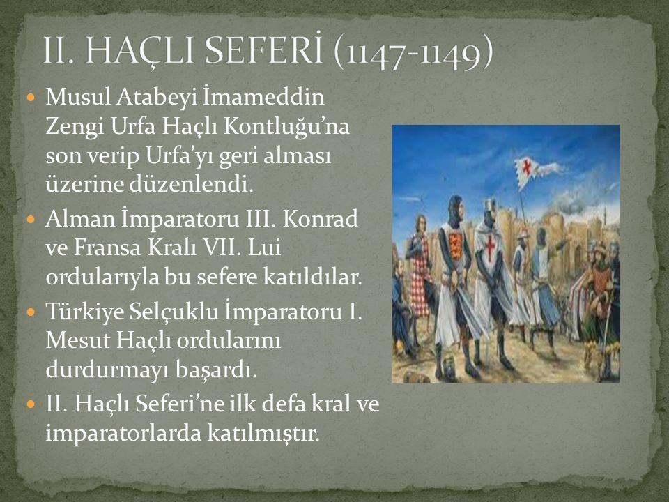 Musul Atabeyi İmameddin Zengi Urfa Haçlı Kontluğu'na son verip Urfa'yı geri alması üzerine düzenlendi. Alman İmparatoru III. Konrad ve Fransa Kralı VI