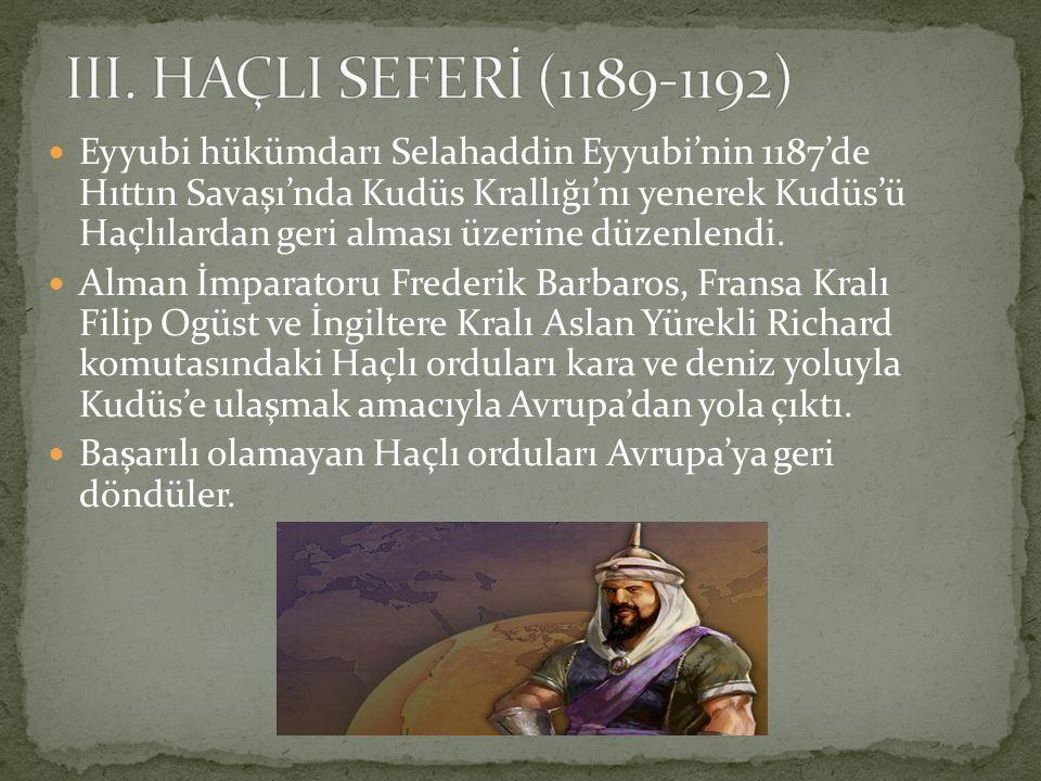 Eyyubi hükümdarı Selahaddin Eyyubi'nin 1187'de Hıttın Savaşı'nda Kudüs Krallığı'nı yenerek Kudüs'ü Haçlılardan geri alması üzerine düzenlendi. Alman İ