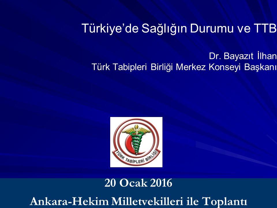 Dr. Bayazıt İlhan Türk Tabipleri Birliği Merkez Konseyi Başkanı Türkiye'de Sağlığın Durumu ve TTB Dr. Bayazıt İlhan Türk Tabipleri Birliği Merkez Kons