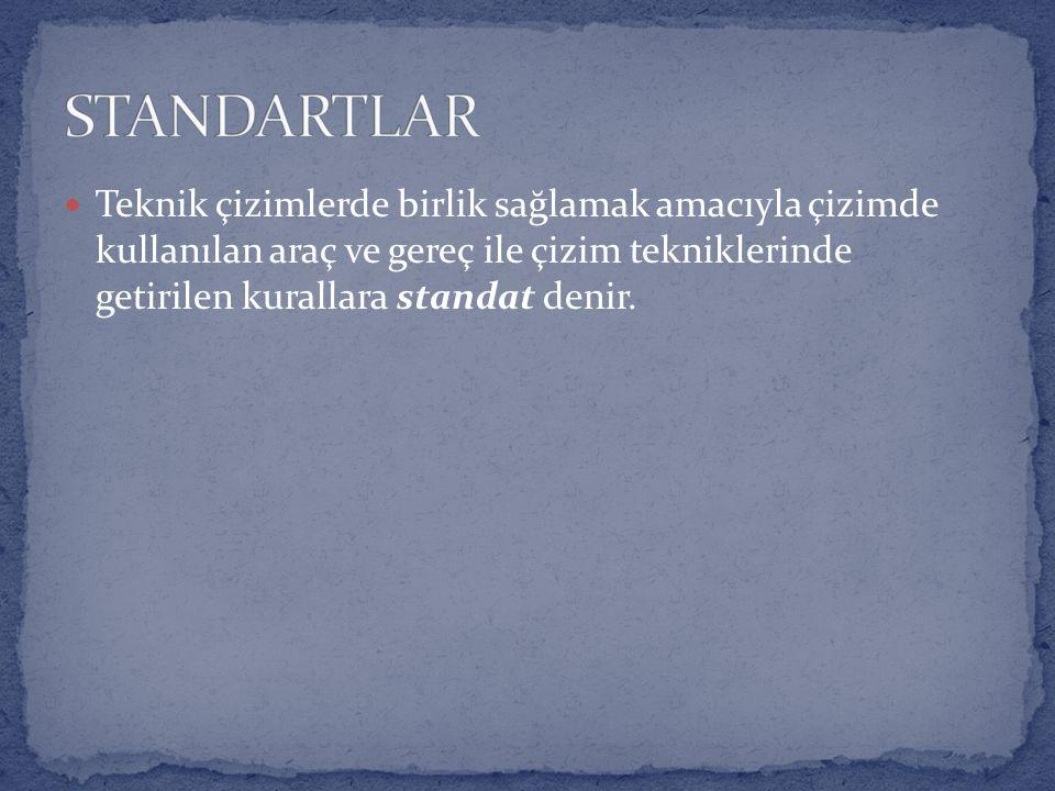 Türkiye'de, Türk Standartları Enstitüsü (TSE) teknik resimle ilgili kurallara standartlar getirmiştir.