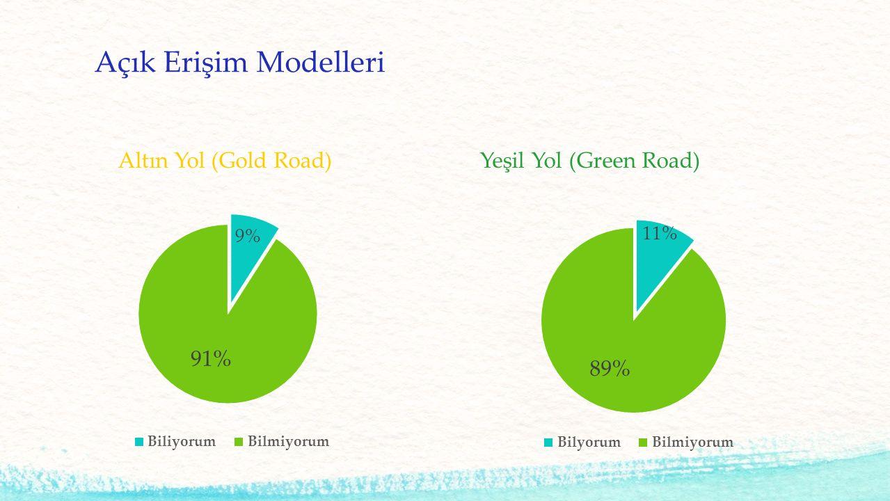 Açık Erişim Modelleri Altın Yol (Gold Road)Yeşil Yol (Green Road)
