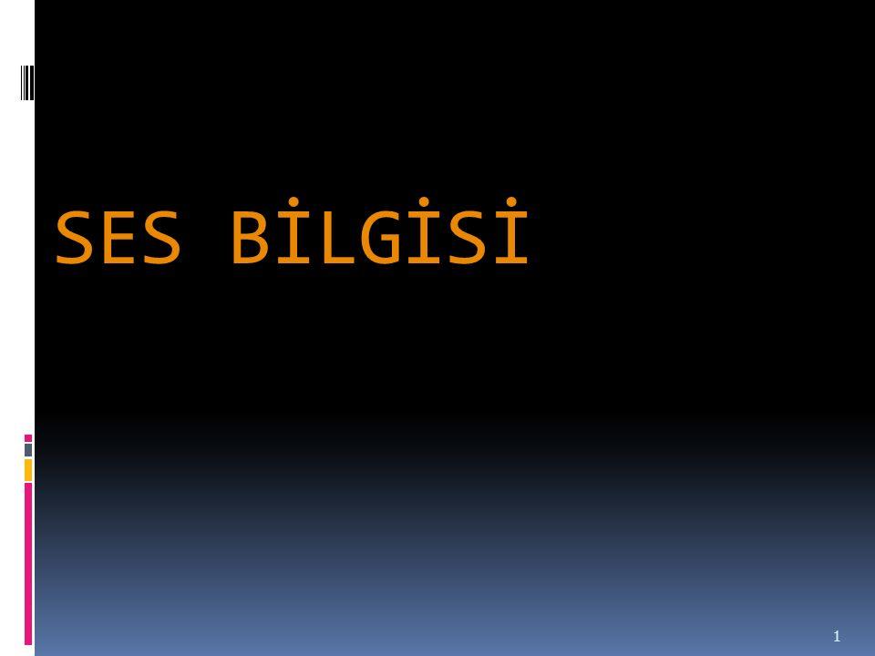 SES BİLGİSİ 1