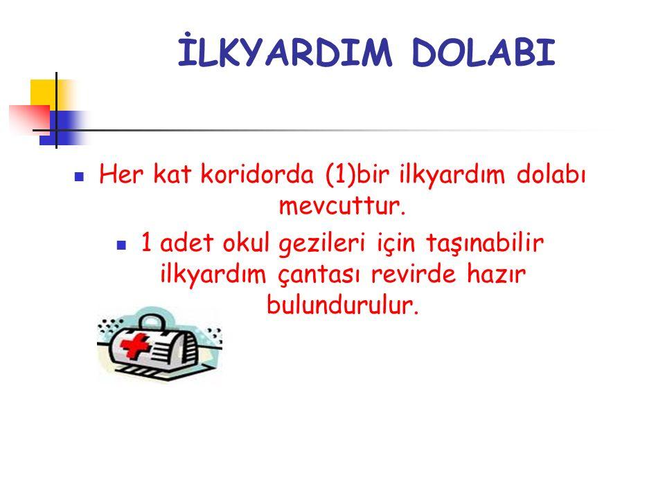 İLKYARDIM DOLABI Her kat koridorda (1)bir ilkyardım dolabı mevcuttur.