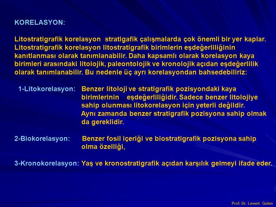KORELASYON: Litostratigrafik korelasyon stratigafik çalışmalarda çok önemli bir yer kaplar.