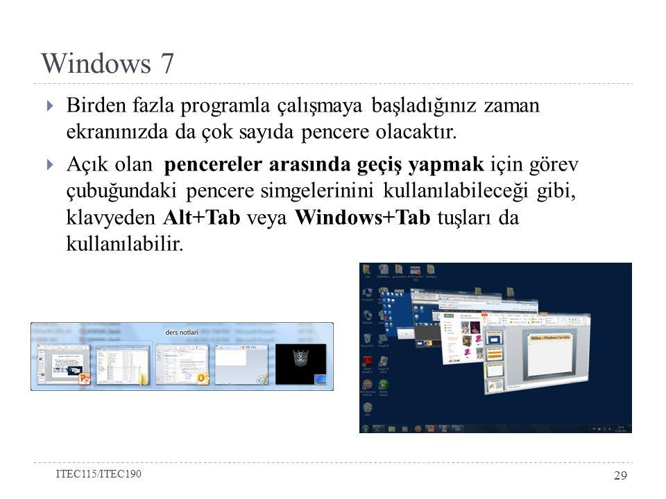  Birden fazla programla çalışmaya başladığınız zaman ekranınızda da çok sayıda pencere olacaktır.