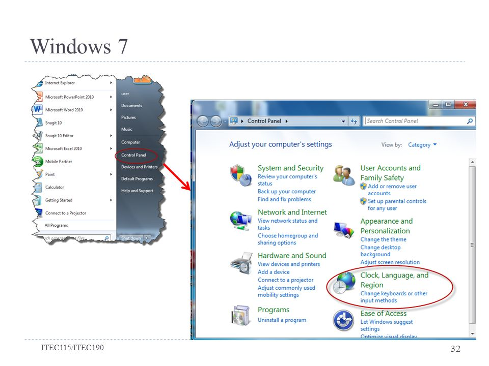 Windows 7 Bölüm 2-Windows 7'yi Kişiselleştirmek ITEC115/ITEC190 32