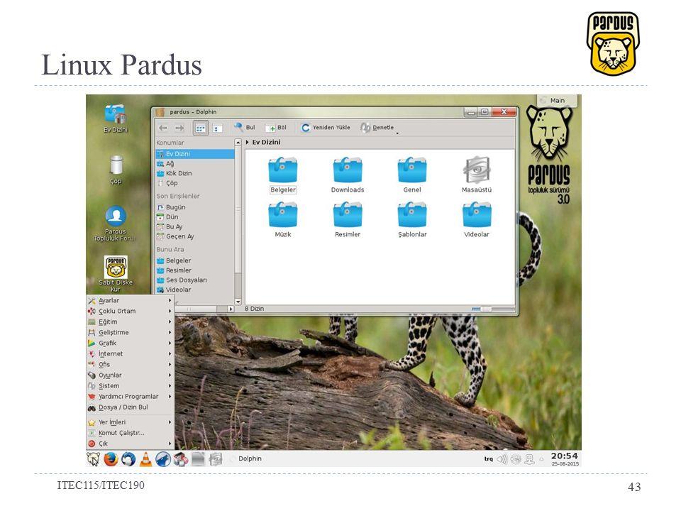 Linux Pardus ITEC115/ITEC190 43