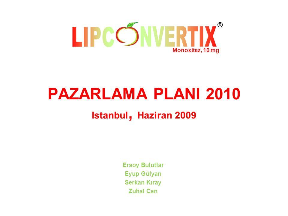 PAZARLAMA PLANI 2010 Istanbul, Haziran 2009 Ersoy Bulutlar Eyup Gülyan Serkan Kıray Zuhal Can Monoxitaz, 10 mg ®