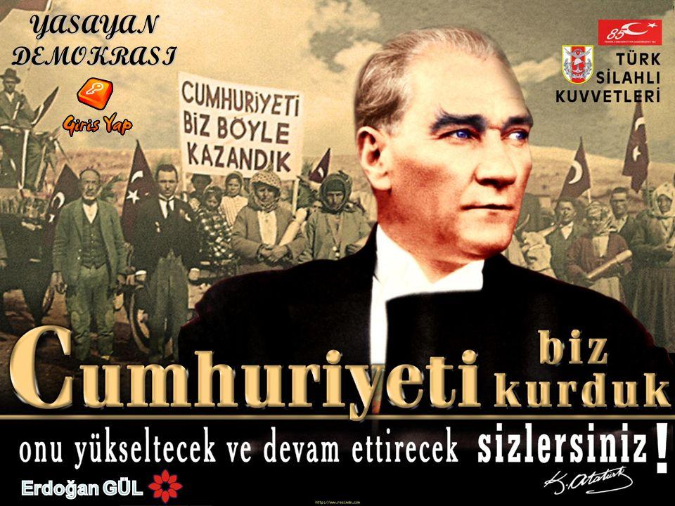 I.Devletin şekli MADDE 1.– Türkiye Devleti bir Cumhuriyettir.