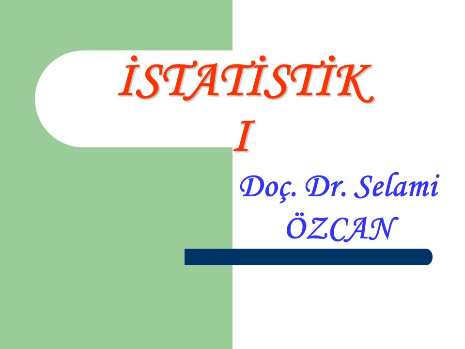 01.03.2016Selami ÖZCAN İstatistik 172 13.