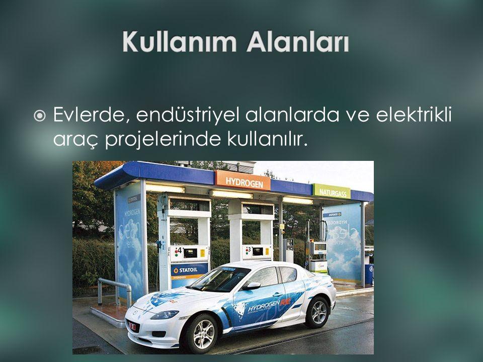  Evlerde, endüstriyel alanlarda ve elektrikli araç projelerinde kullanılır.