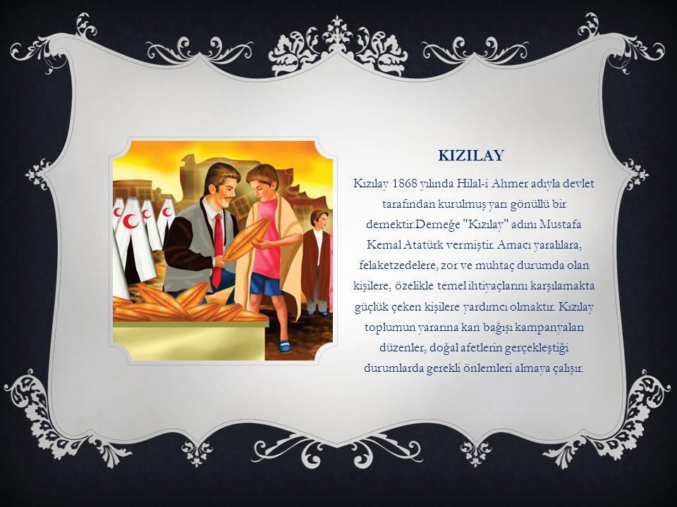 İÇ BÖLÜM  1-KIZILAY 8-FİZİKSEL ENGELLİLER VAKFI  2-YEŞİLAY  3-TÜRK KALP VAKFI  4-TÜRK BÖBREK VAKFI  5-SİGARAYLA SAVAŞANLAR VAKFI  6-LÖSEMİLİ ÇOCUKLAR VAKFI  7-TÜRK DİYABET VAKFI