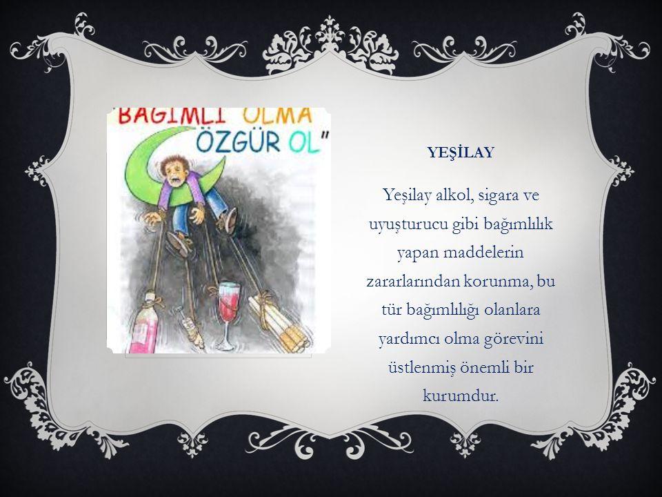 KIZILAY Kızılay 1868 yılında Hilal-i Ahmer adıyla devlet tarafından kurulmuş yarı gönüllü bir dernektir.Derneğe Kızılay adını Mustafa Kemal Atatürk vermiştir.