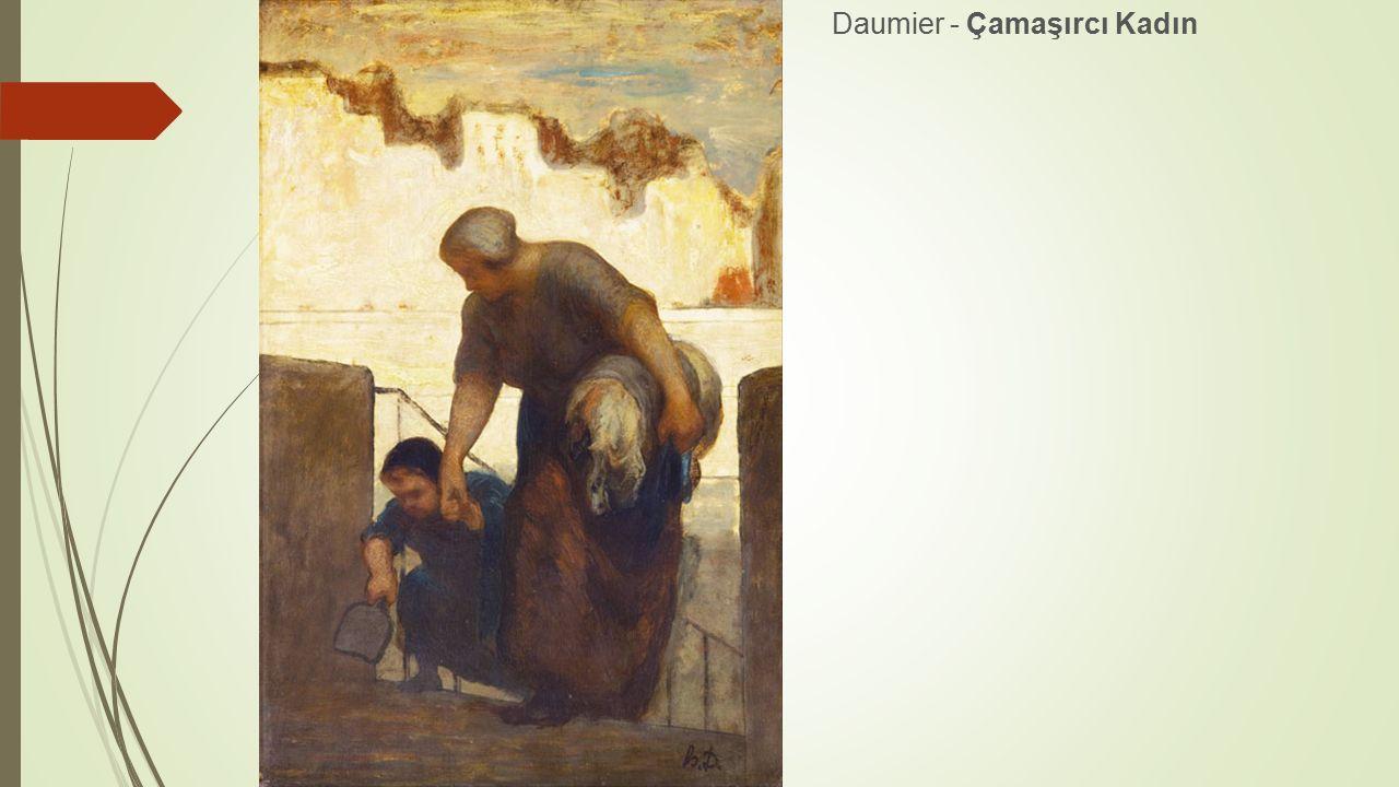 Daumier - Çamaşırcı Kadın
