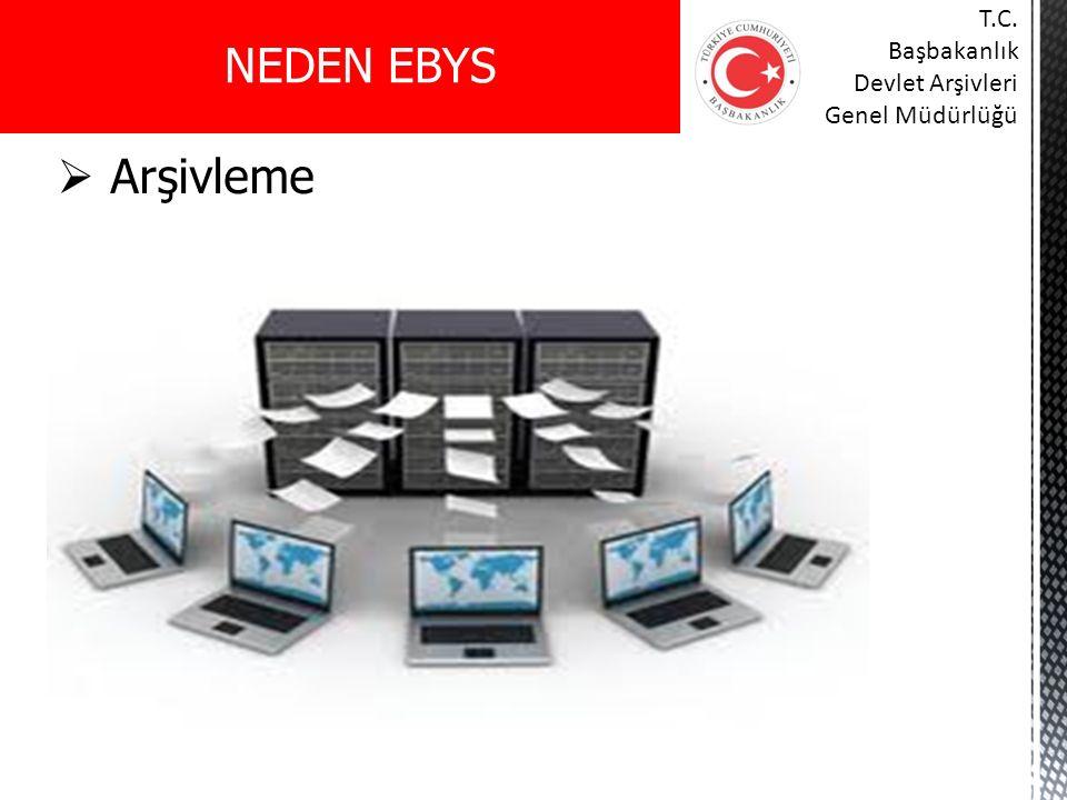 NEDEN EBYS T.C. Başbakanlık Devlet Arşivleri Genel Müdürlüğü