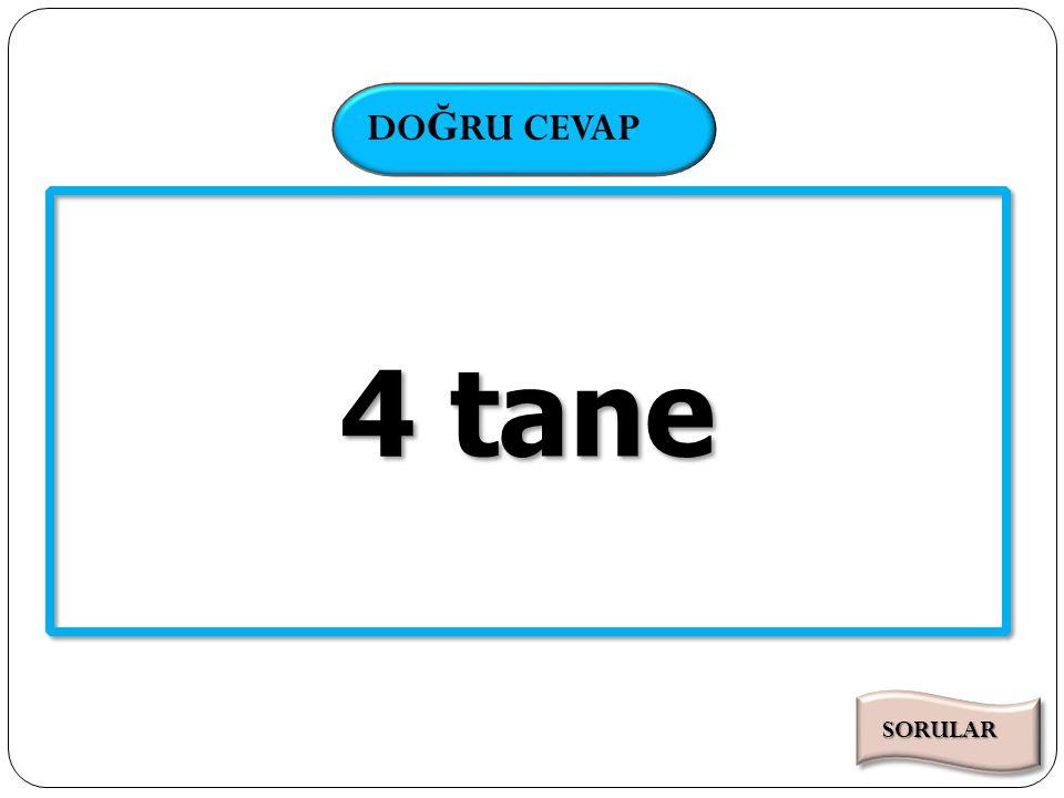 SÜRE DO Ğ RU CEVAP Kaç tane doğal sayının faktöriyeli bir basamaklı doğal sayıdır.
