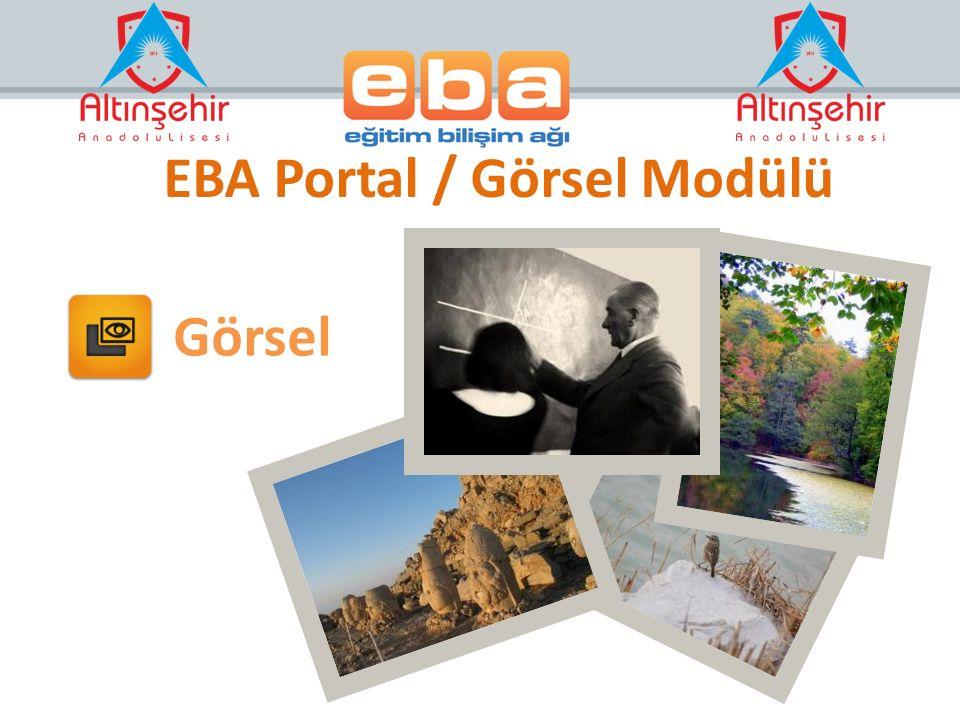 Görsel EBA Portal / Görsel Modülü