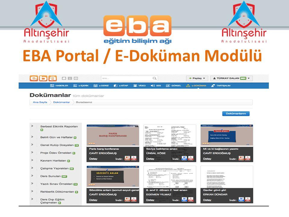 EBA Portal / E-Doküman Modülü