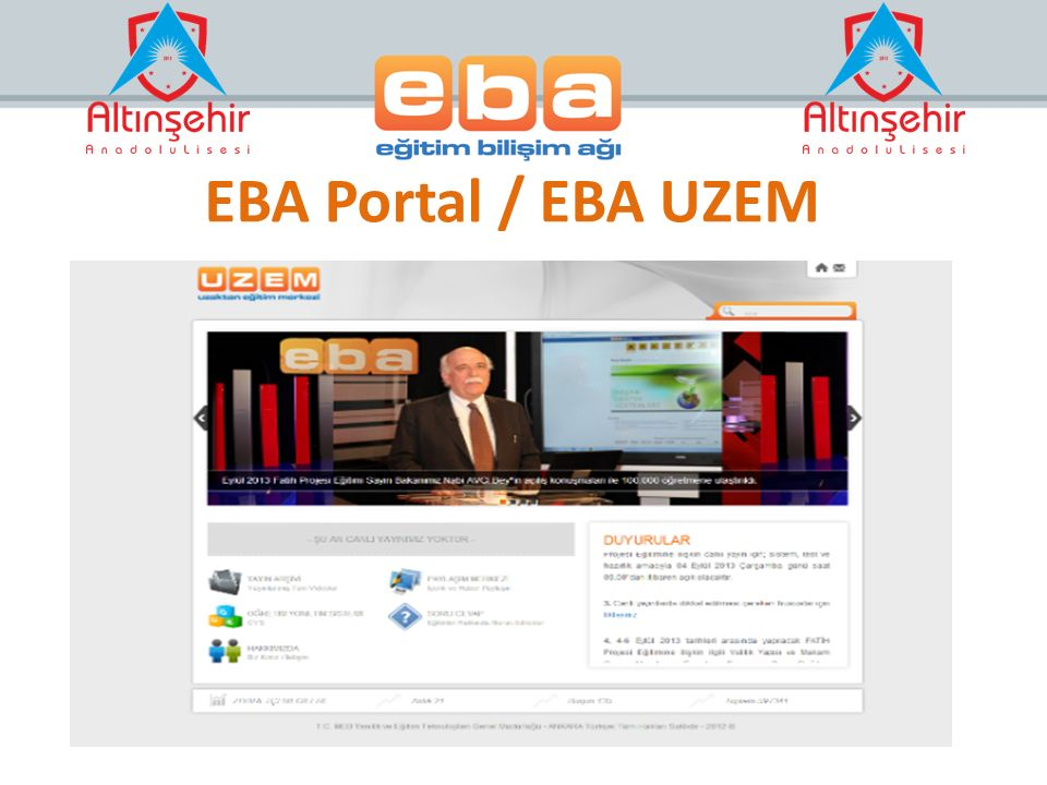 EBA Portal / EBA UZEM