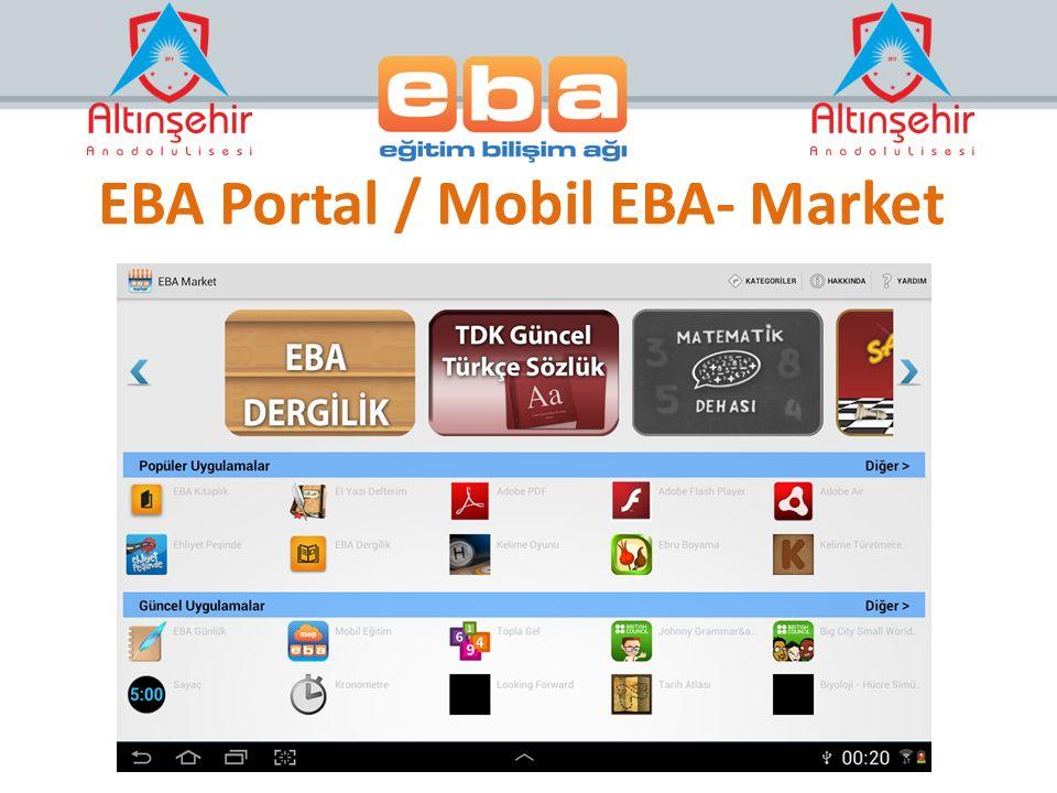 EBA Portal / Mobil EBA- Market