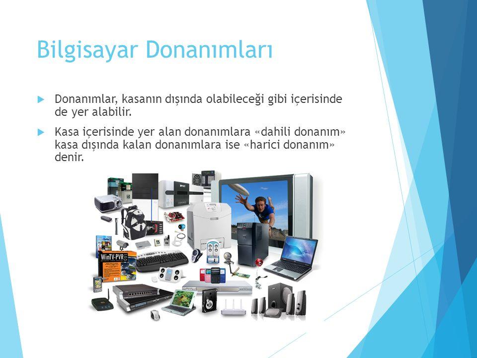 Yazılım Çeşitleri  Yazılımlar, sistem yazılımı ve uygulama yazılımı olarak ikiye ayrılır.