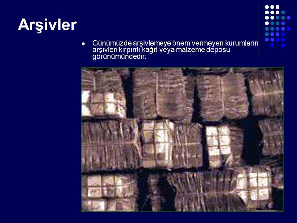 Birim Arşivine Verilecek Malzemenin Ayırımı ve Hazırlanması: -Yukarıda sıralanan ayırım işlemlerini müteakip, işlemi tamamlanan dosyalar, birim arşivine Dosya Muhteviyatı Döküm Formu ile birlikte teslim edilir.
