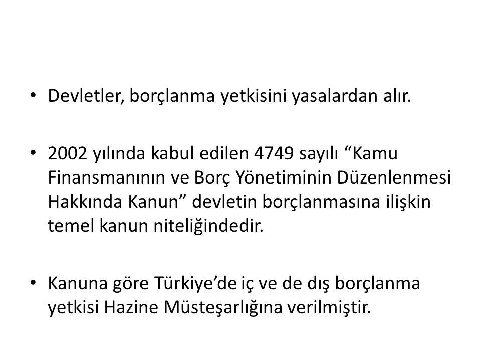 Vadeye Göre Sınıflandırma Hazine, iç borçlanma senetlerini vadelerine göre Devlet Tahvili ve Hazine Bonosu olarak ihraç etmektedir.