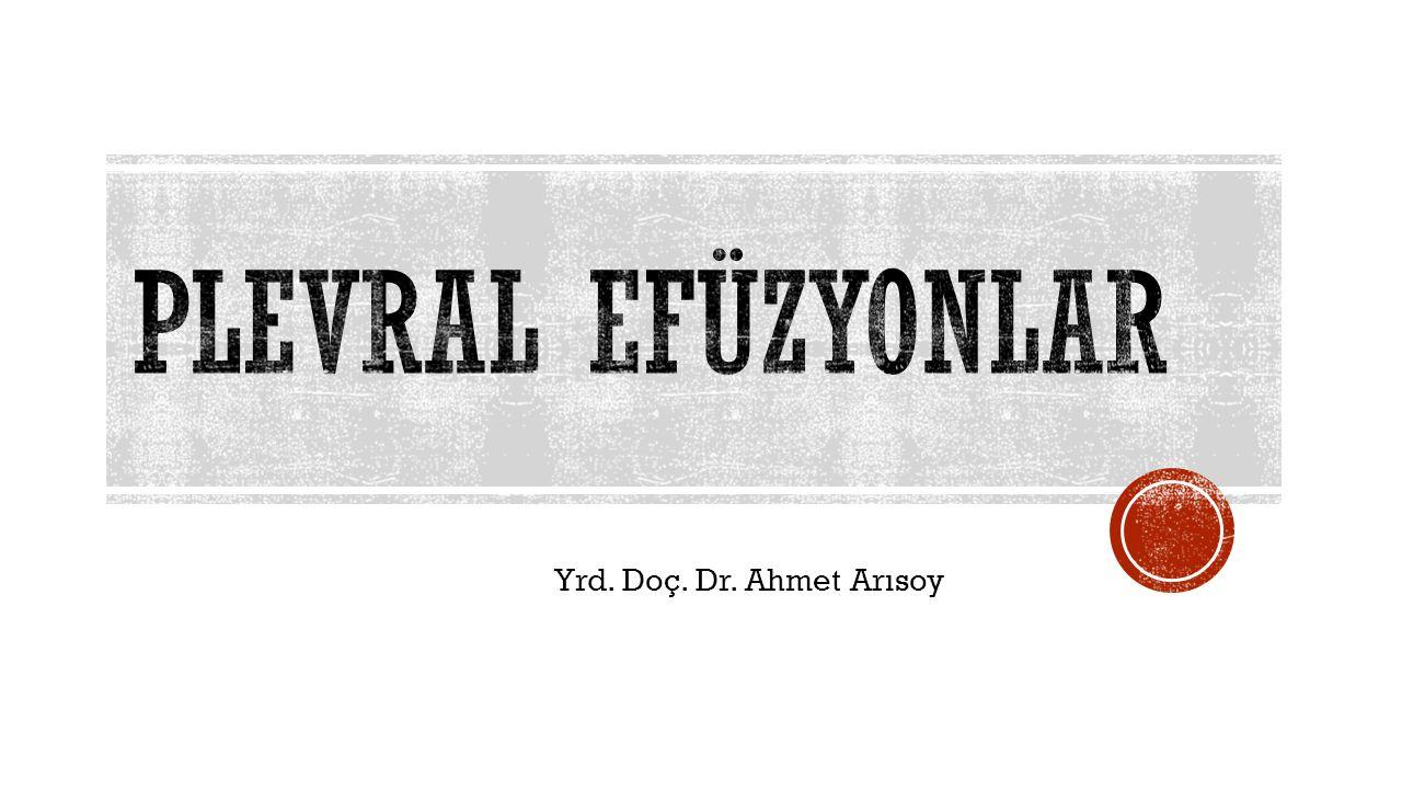 Yrd. Doç. Dr. Ahmet Arısoy