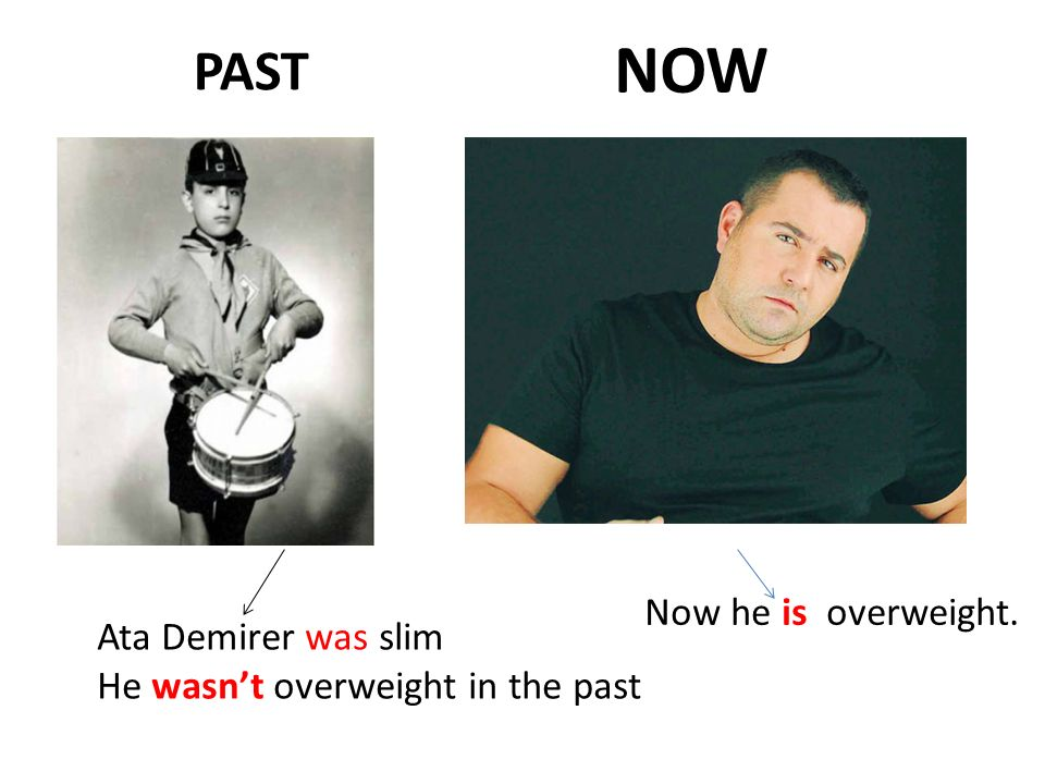 PAST NOW Ata Demirer was slim He wasn't overweight in the past Now he is overweight.