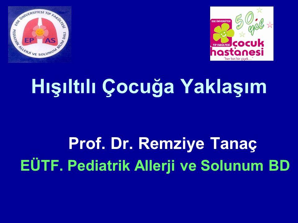 Hışıltılı Çocuğa Yaklaşım Prof. Dr. Remziye Tanaç EÜTF. Pediatrik Allerji ve Solunum BD