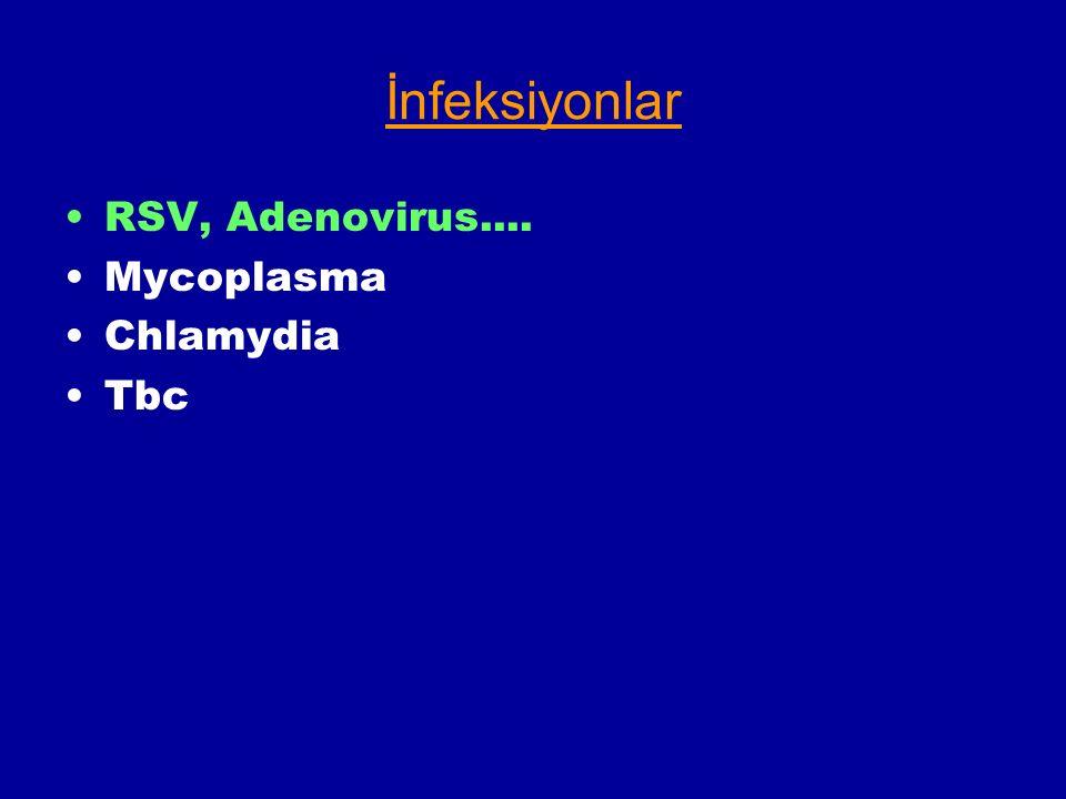 İnfeksiyonlar RSV, Adenovirus.... Mycoplasma Chlamydia Tbc