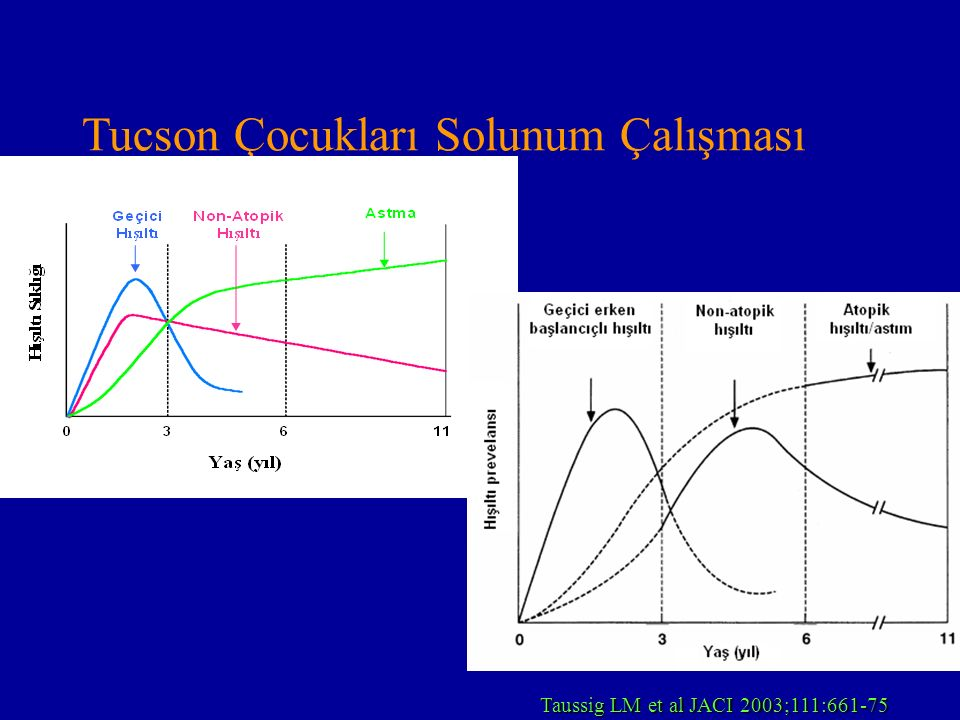 LTRA (Astım) Plasebo kontrollu çalışma n = 30atopik astım 2-5 yaş Süre 4 hafta (montelukast 4 mg) eNO, havayolu rezistansı (Rint) İstatistiksel anlamlı antiinflamatuvar etkili ve rezistansta azalma Straub D.A.:Chest 2005 ; 127:509-14