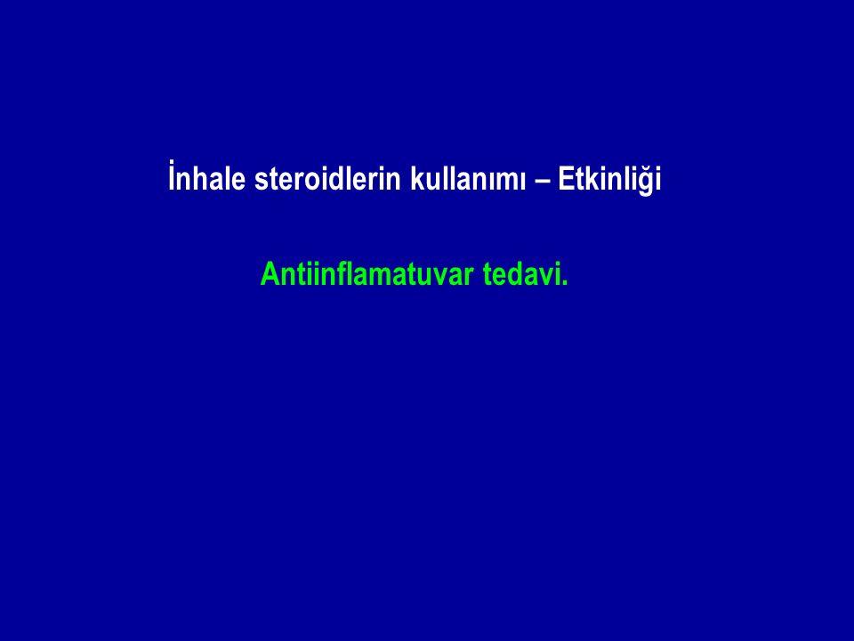 İnhale steroidlerin kullanımı – Etkinliği Antiinflamatuvar tedavi.