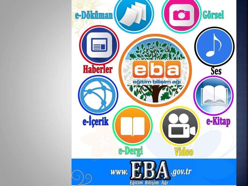 Çalışmaları devam edenler; e-ders modülü Deneyler Kırkambar Modülü http://www.eba.gov.tr/