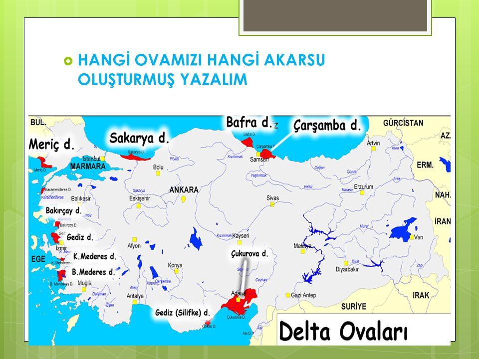 İÇ OVALARIMIZ  Ülkemizdeki iç ovaların neredeyse tamamı tektonik kökenli olup karstik ve dağ içi ovalarına da rastlanılmaktadır.