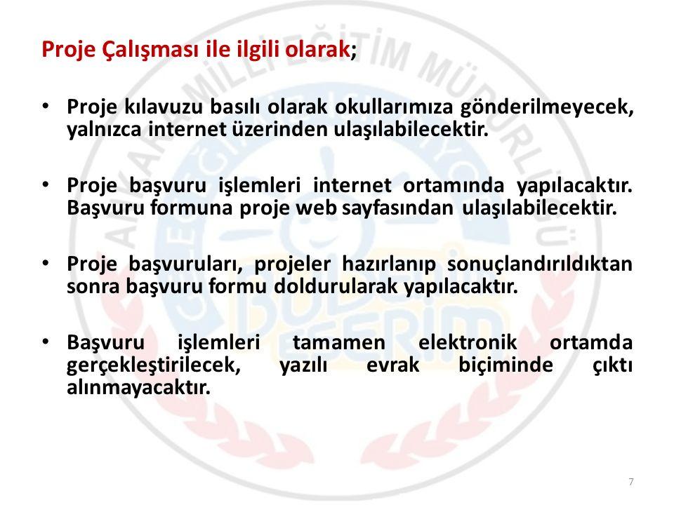 Proje Bankası (http://basvurular.meb.gov.tr/bubenimeserim/projebankasi.aspx) 28