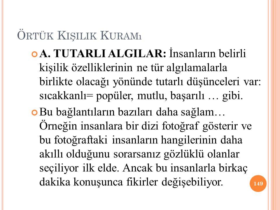 Ö RTÜK K IŞILIK K URAMı A.