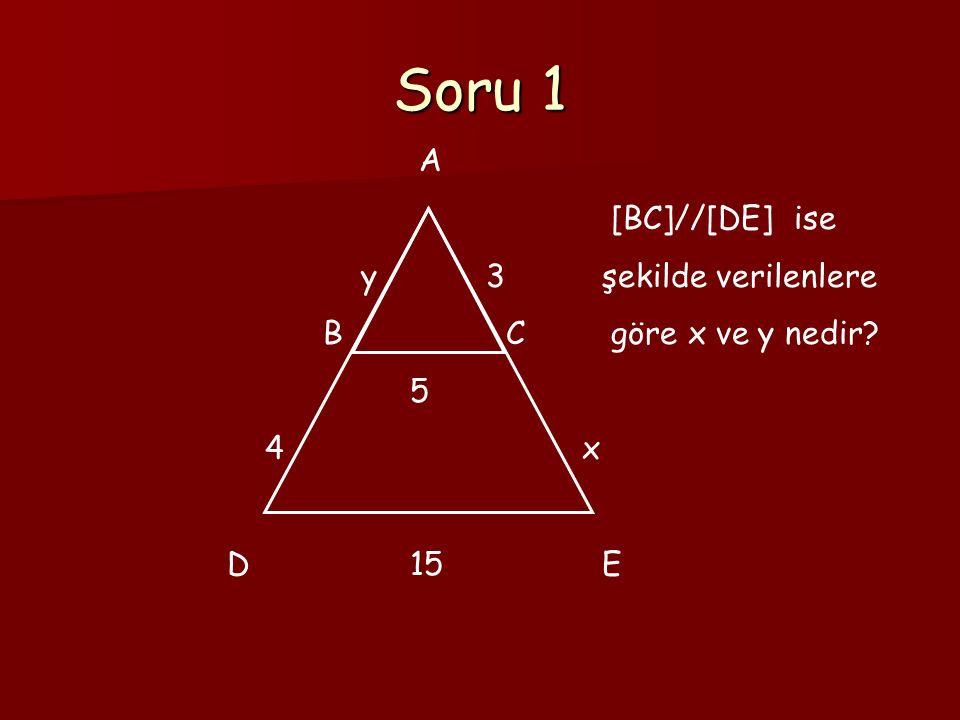 Soru 12 A B C D [AB]//[CD] |CE|=15br, |EB|=3br, |AD|=30br ise |DE|=? E